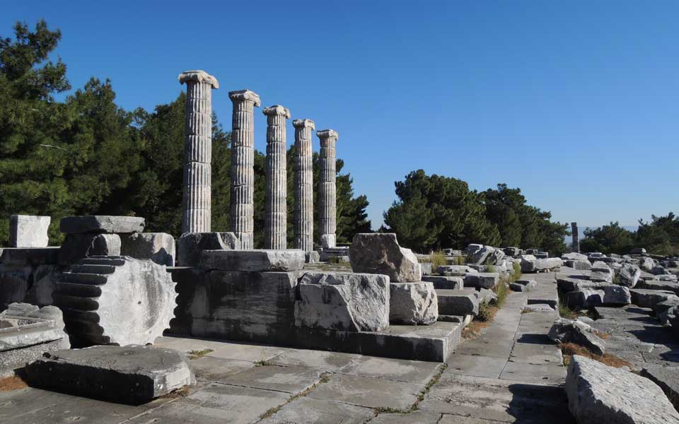 Temple of Athena, Priene, Aydin, Turkey